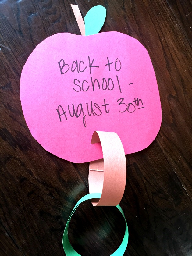 back to school paper chain