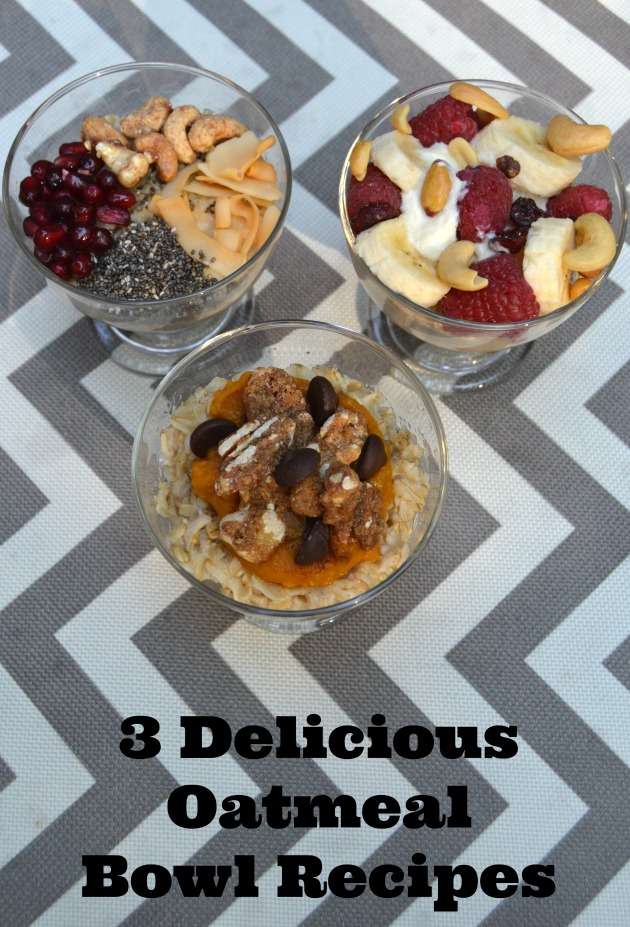 3 oatmeal breakfast recipes