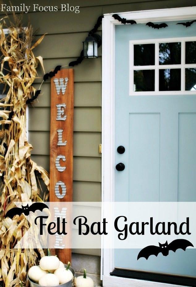 Felt Bat Garland