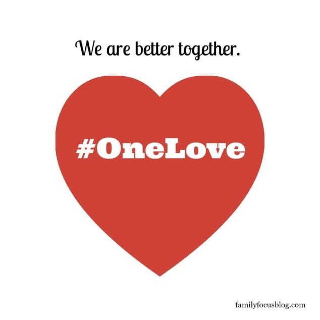 one love- stand for racial equality