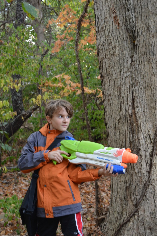 rain gear for kids at home outside