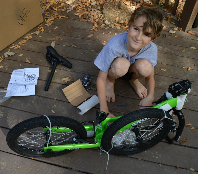 assembly of balance bikes for kids
