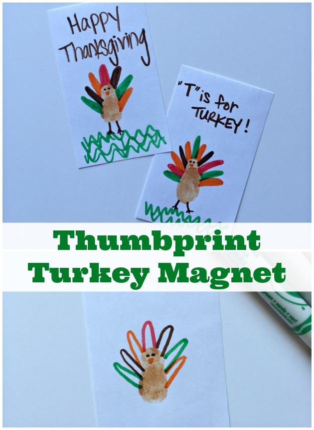 Thumbprint Turkey Magnet