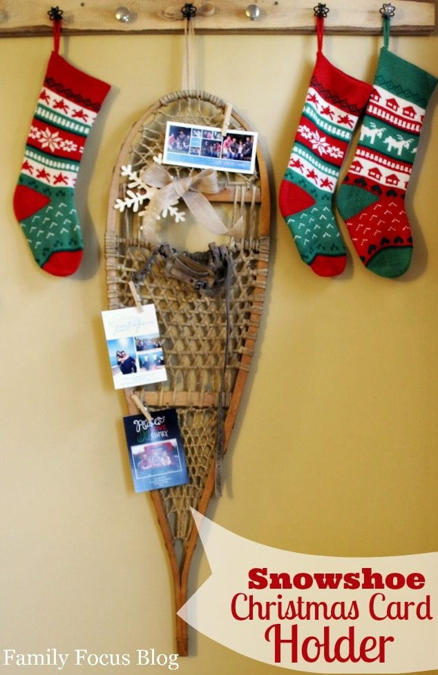 Snowshoe Christmas Card Holder Craft Tutorial
