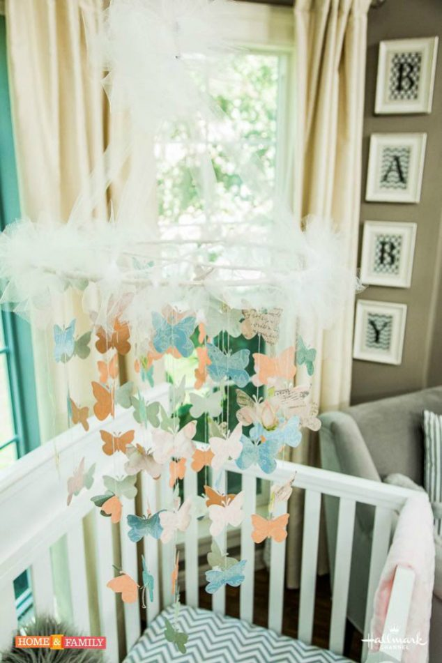 Learn how to make a diy butterfly crib mobile with Paige Hemmis.
