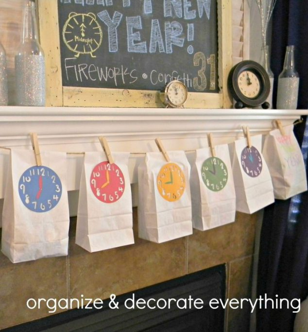 new year celebration countdown bags