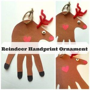 reindeer handprint ornament