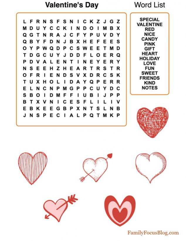 picture about Valentine Day Word Search Printable titled 10 Lovely Valentines Working day Absolutely free Printables Loved ones Consideration Blog site