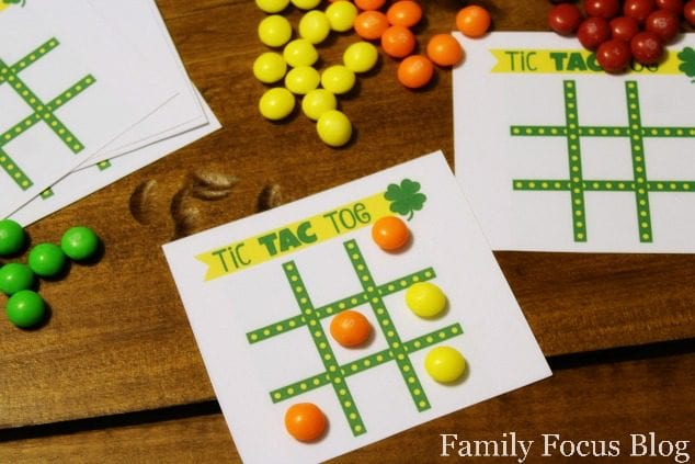 St. Patrick's Day Printable Tic Tac Toe Board
