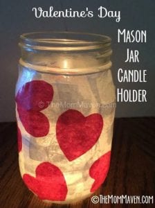 TheMomMaven valentine's day jar candle holder