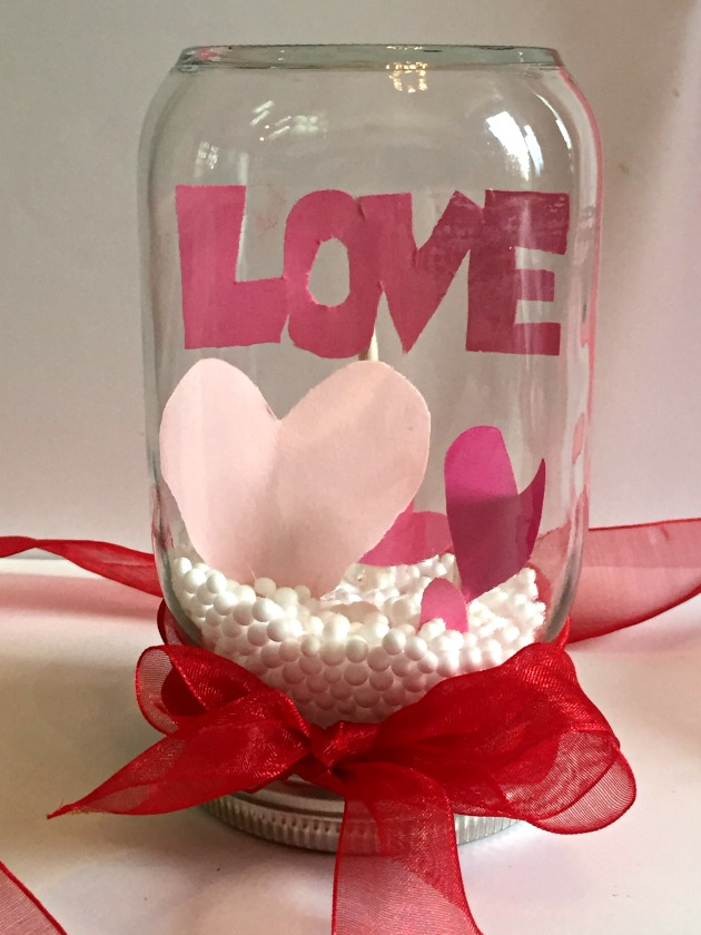 Valentine's Day Snow Globe Craft Project