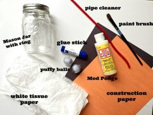 snowman lantern craft supplies