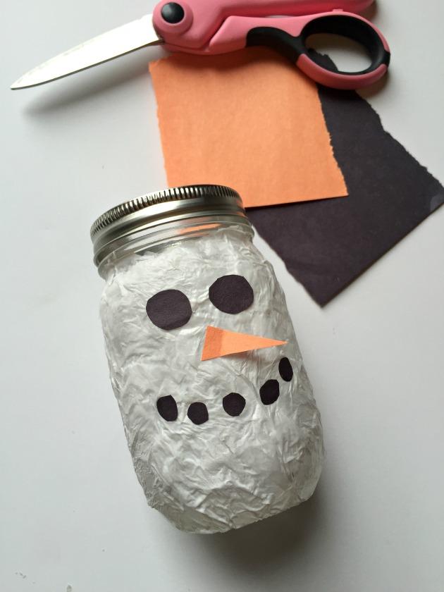 DIY Lantern Snowman