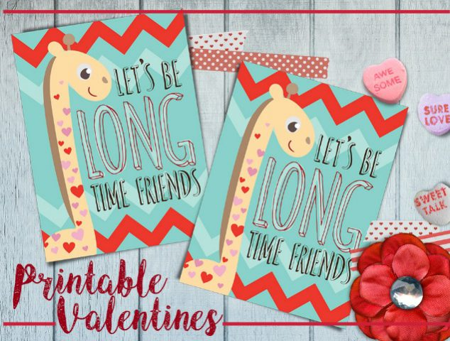valentine card giraffe