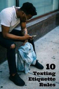 10 Texting Etiquette Rules
