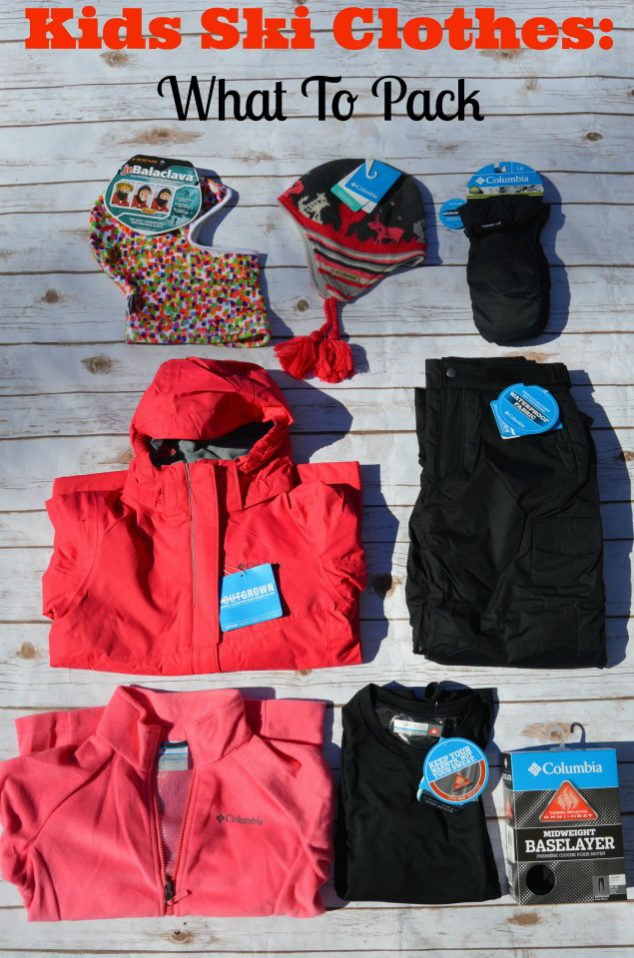 Kids ski clothes