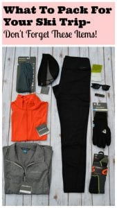 Pack for ski trip