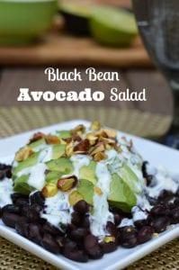 black bean avocado salad