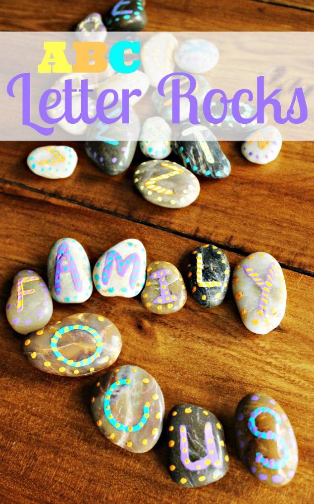 Painted Rocks Crafts: ABC Letter Rocks