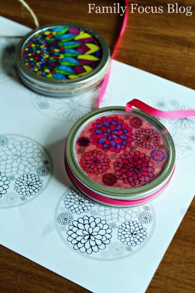 DIY Sun Catchers Mason Jar Lids