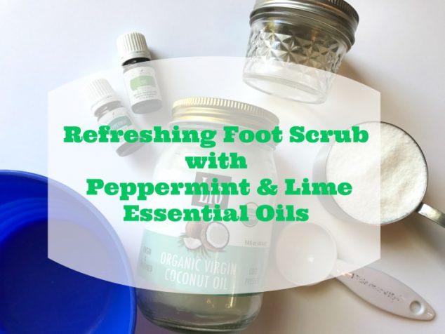homemade peppermint foot scrub