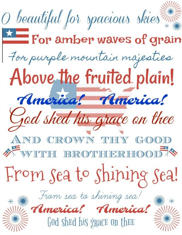 Free Printable 4th of July Decorations