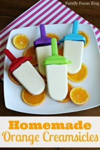 Homemade Orange Creamsicles