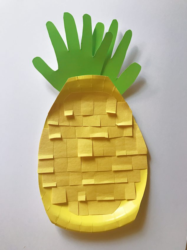 pineapple crafts kids preschoolers