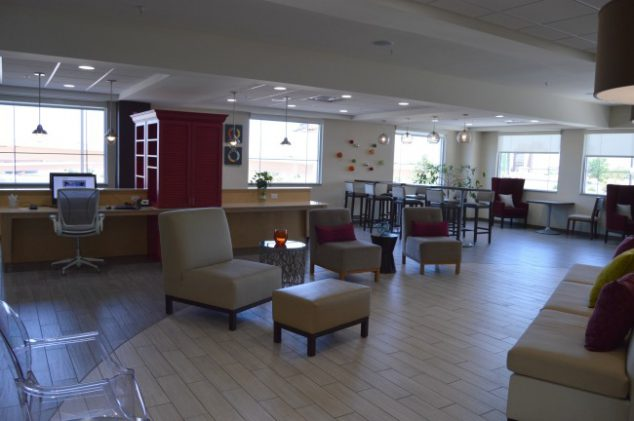 lobby and business center