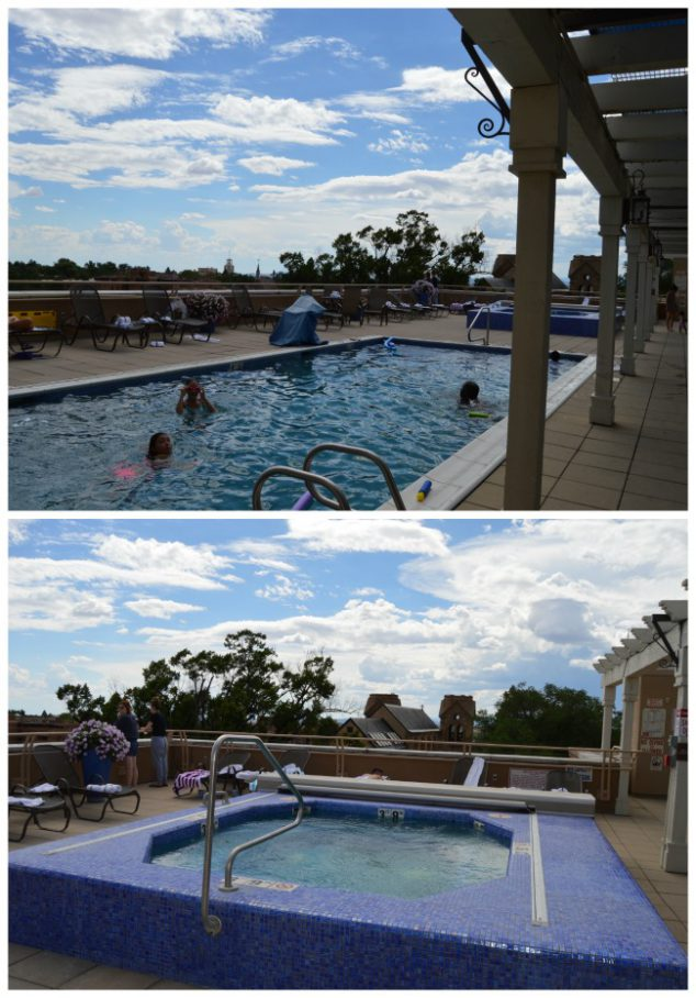 santa fe rooftop pool and spa