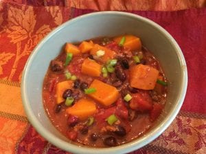 butternut squash turkey chili recipe