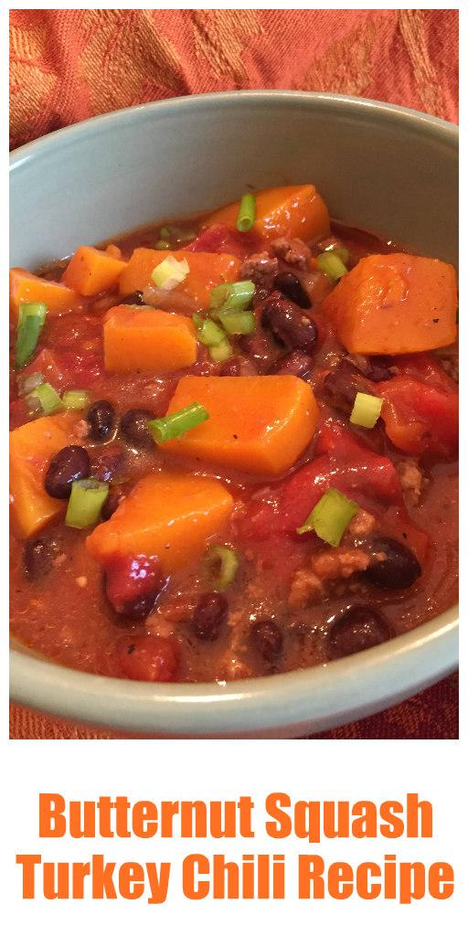 spicy butternut squash turkey chili