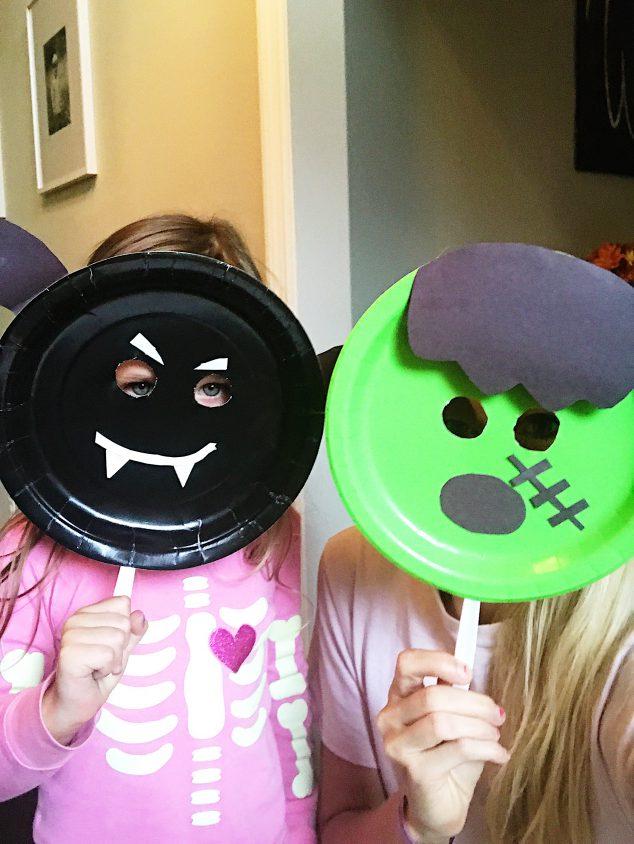 halloween paper plate masks