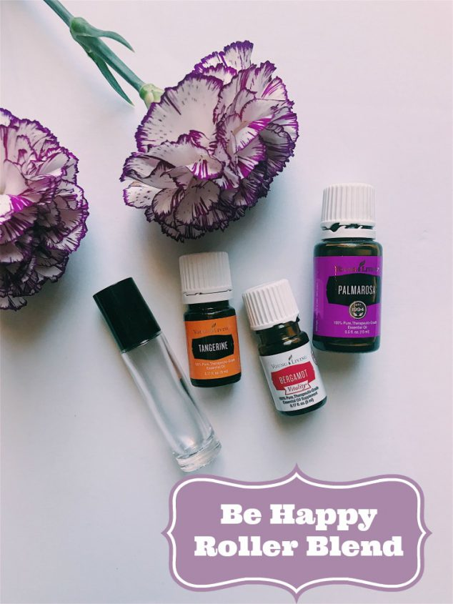 Be Happy Essential Oil Roller Bottles
