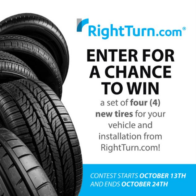 tire deals online- right turn tire giveaway
