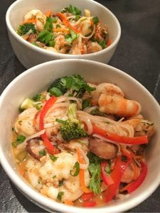 shrimp and red curry noodle recipe