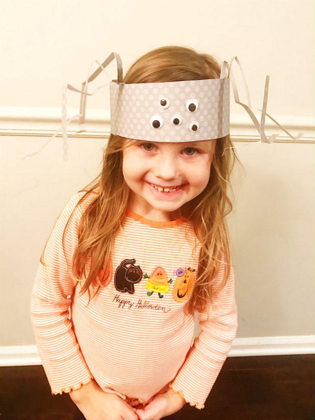 silly spider hat craft