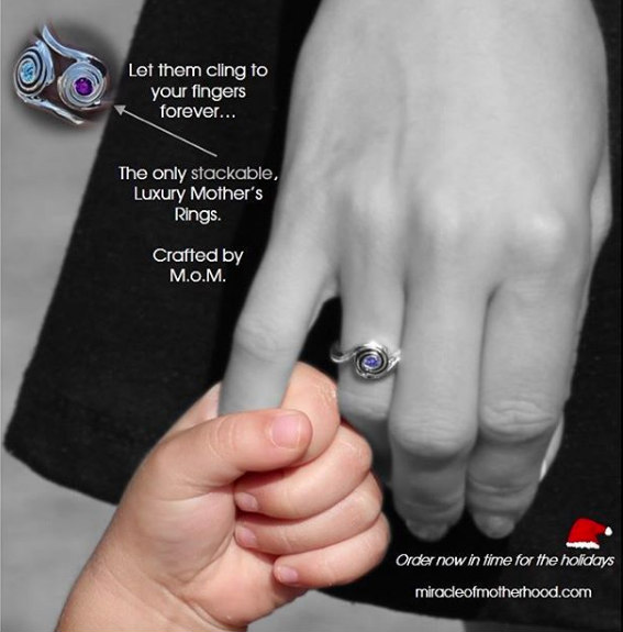 moms rings -stackable mothers rings with birthstones