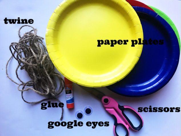 make paper plate turkey