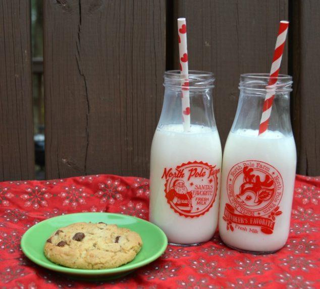 christmas milk bottles
