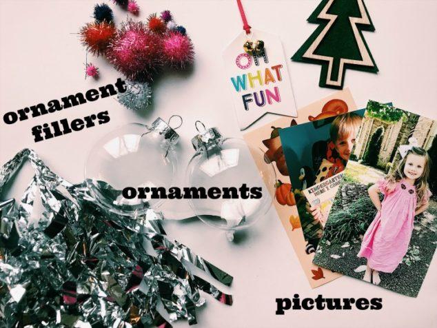 plastic ball photo ornaments