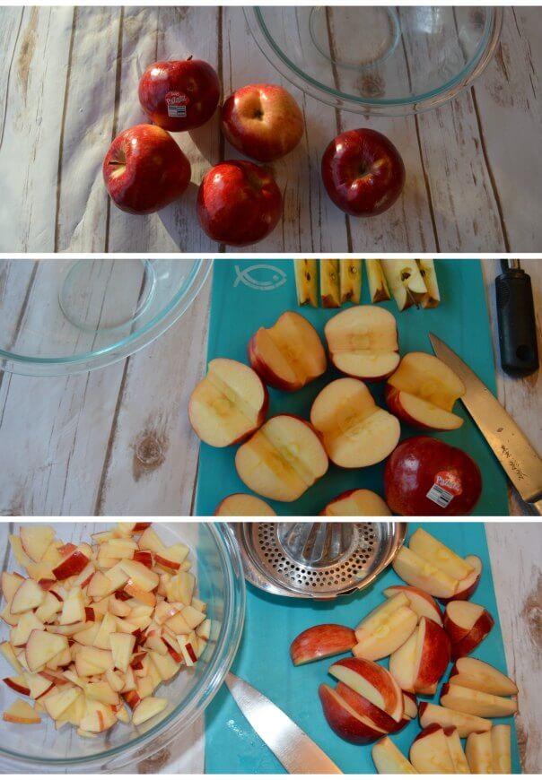 slice fresh apples