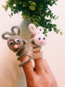 making finger puppets