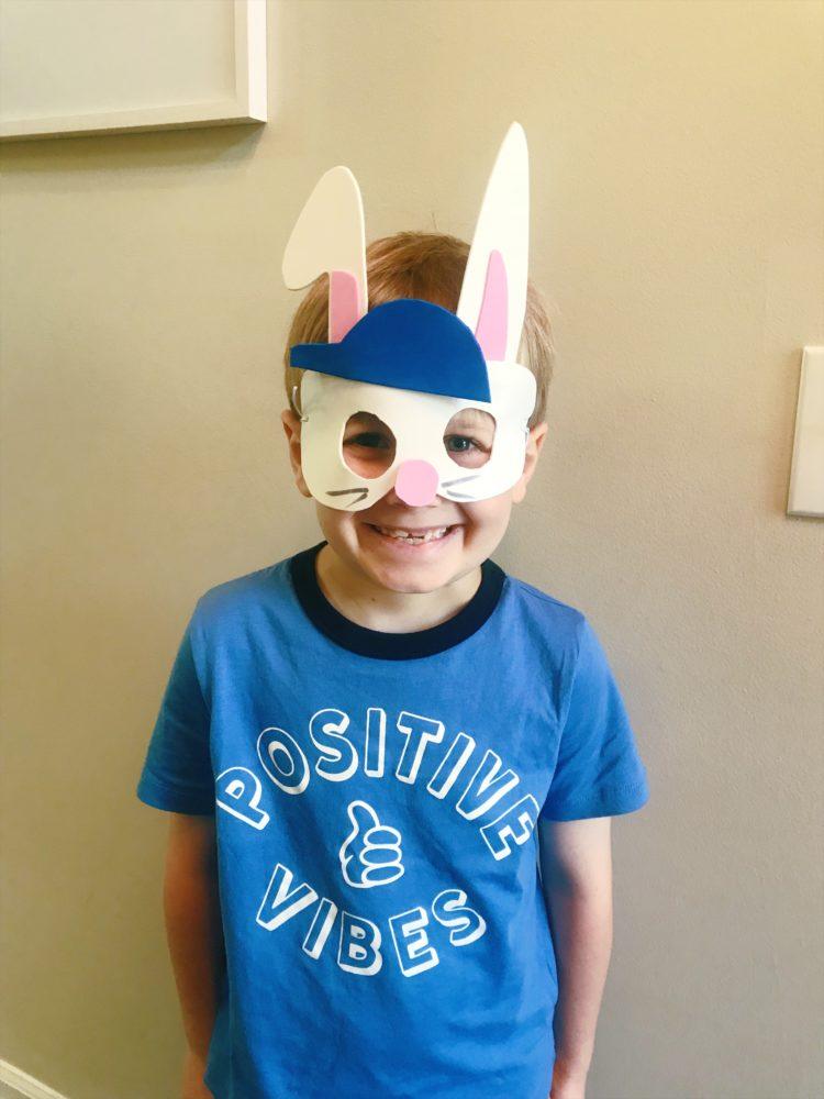 make easter bunny mask