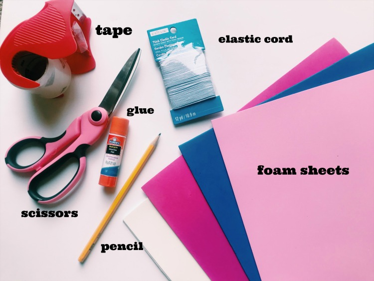 Easter Bunny Mask craft supplies