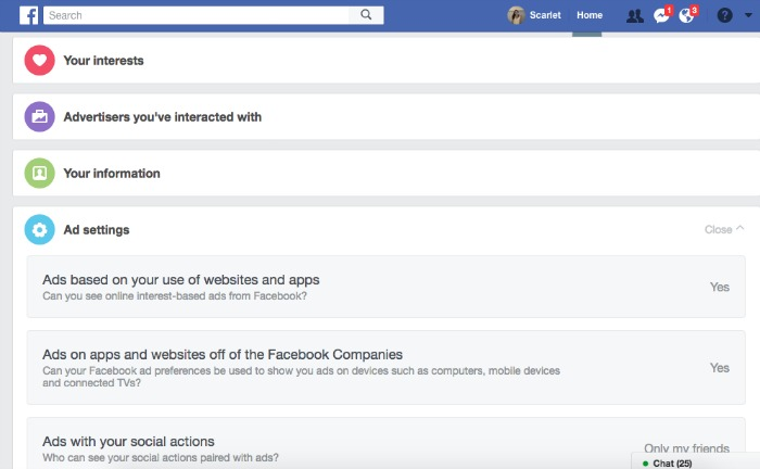 Facebook Settings For Ads