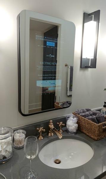 internet in bathroom mirror