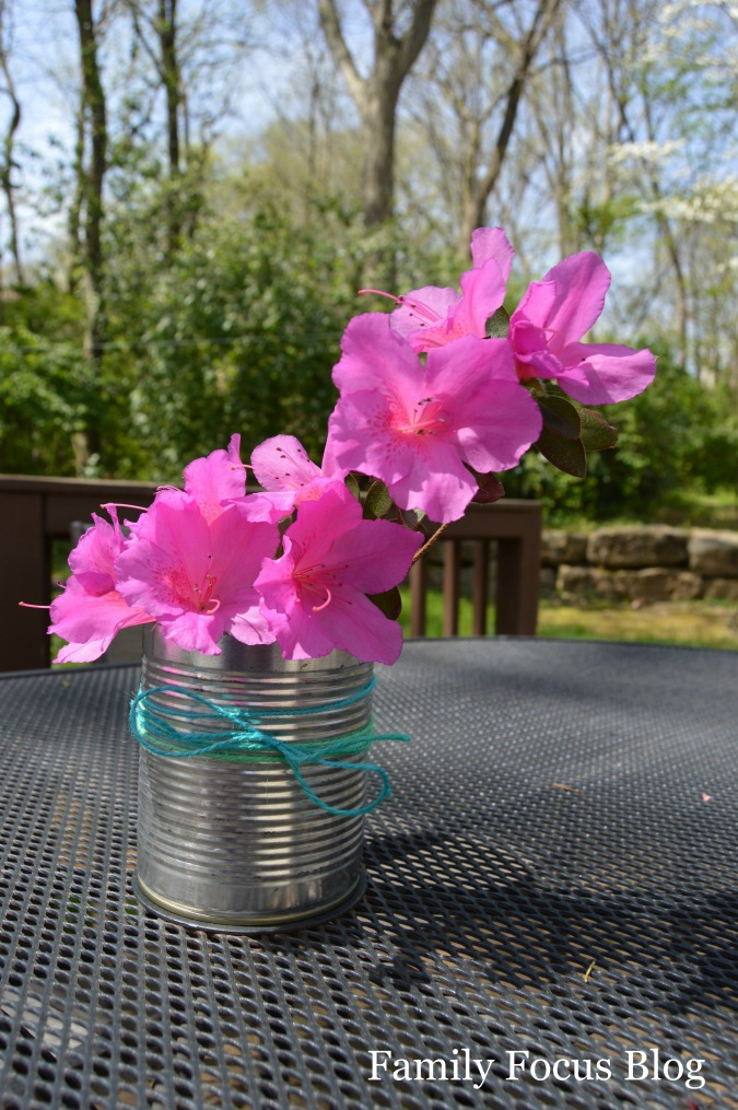 simple tin can vase