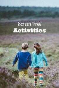 Screen Free Activities Kids