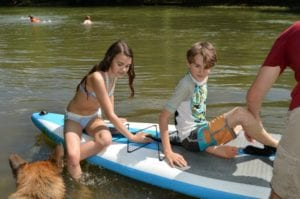 family paddleboard